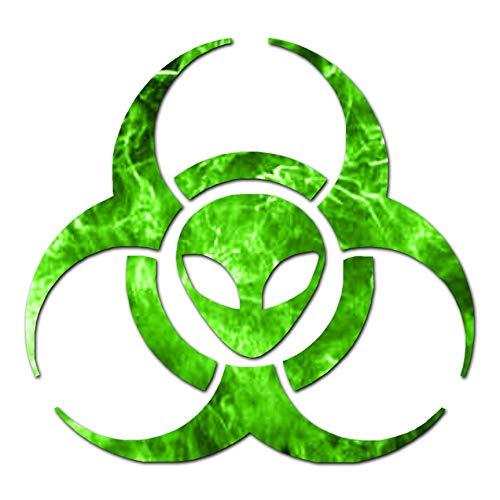 - Alien Biohazard Symbol - Vinyl Decal Sticker - 6