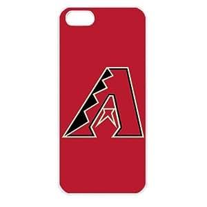 MLB Major League Baseball Arizona Diamondbacks Apple iPhone 5 TPU Soft Black or White case (White)