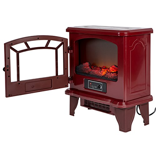 Duraflame DFI-550-22 Infrared Electric Stove Heater, Red