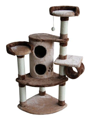 Kitty Mansions Nashville Cat Tree, Beige/Brown, My Pet Supplies