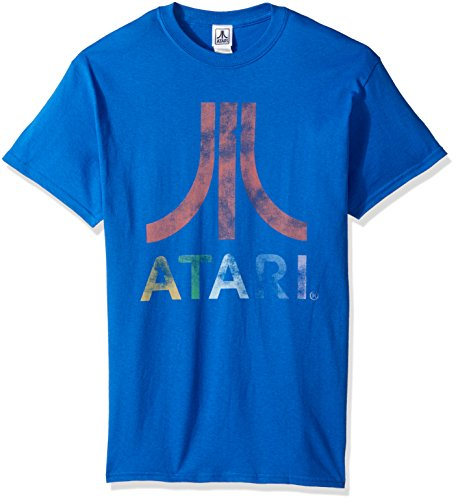 Atari Men's Classic Colorful Logo T-Shirt, Royal, 4XL