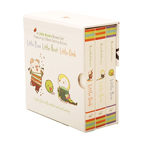 A Little Books Boxed Set Featuring Little Pea  Little Hoot  Little Oink: (Baby Board Books, Nursery Rhymes, Children's Book Sets, Nursery Books)