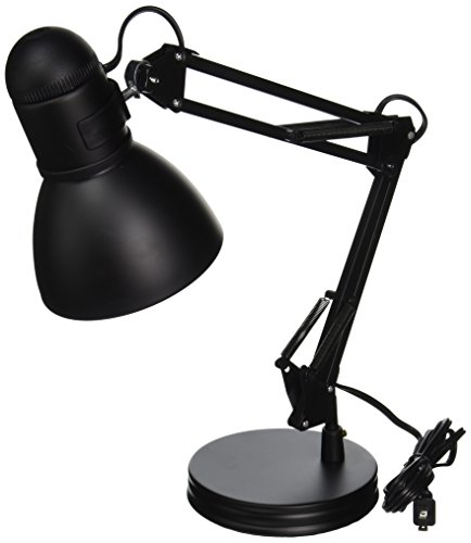 "boston harbor tl-wk-134e-bk-3l architect swing arm desk lamp, 17.3"" x 15.9"" x 13"", black"