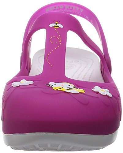 White Shoes Womens Fuchsia Flower Mary Kitty Jane Carlie Hello Crocs TqPaW