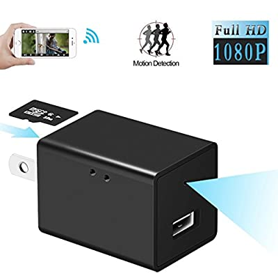 Sunnec Hidden Camera, HD 1080P WIFI IP Hidden Spy Camera USB Wall Charger Nanny Camera Adapter WiFi Motion Detection for Home Security Camera