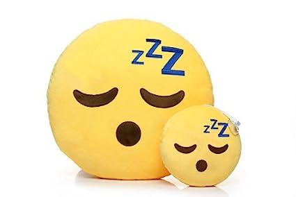 Emoji Cojin Almohada Juguetes de Peluche Suave y Linda Decora tu Hogar (Dormir)