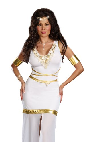 [Dreamgirl Goddess of Love Aphrodite Plus Size, White, X-Large/XX-Large] (Dreamgirl Goddess Of Love Aphrodite Costume)