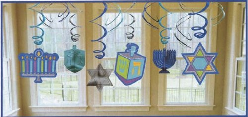 Hanukkah Icon Hanging Decoration, 12pc (Star Trek Costumes Images)