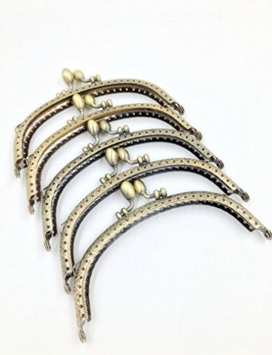 5 Pieces Purse Bag Kiss Clasp Lock Metal Arch Frame (Style 1)