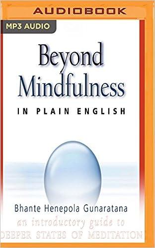 Amazon com: Beyond Mindfulness in Plain English (0191091165355