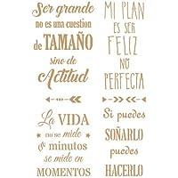 TODO STENCIL Deco Texto 052 Frases Positivas, Medidas:
