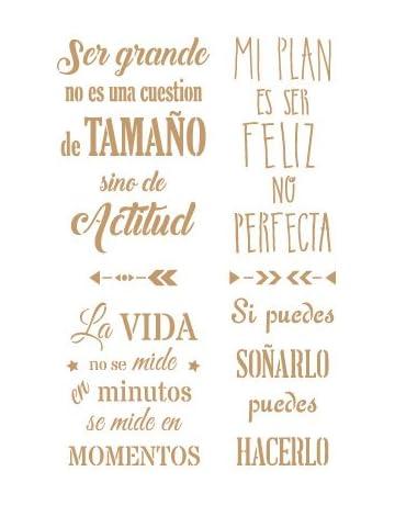 TODO STENCIL Deco Texto 052 Frases Positivas, Medidas: Stencil 20 x 30 cm -