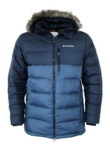 Columbia Men's Northridge Lodge 700 fill Down Hooded Omni Heat Winter Puffer Jacket (Collegiate Navy, S)