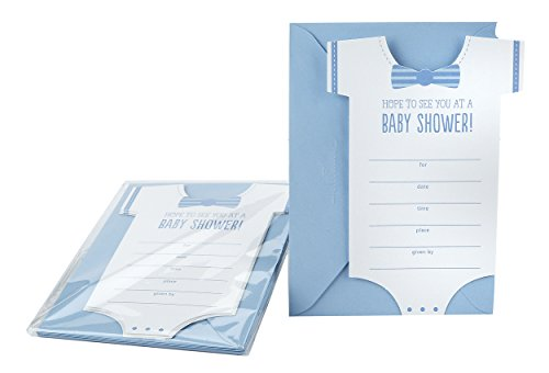 Hallmark Baby Shower Invitations, Onesie (Pack of 10 Invites and Envelopes for Baby Boy) ()