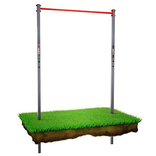 K-Sport: Stationaire outdoor-optrekstang tot 150 kg belastbaar, weerbestendig krachtstation met pull-up bar, optrektoren…