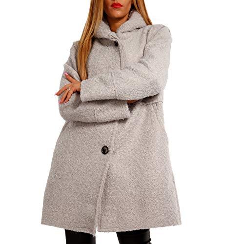 zart Damen Oversized Jacke Herbst Winter Mantel mit