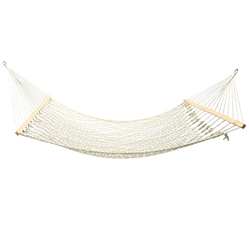 25 Expedition Tent - Double Wide Wood Hanging Tree Hammock,Cotton Spreader Bar Rope Hammock for Garden Yark