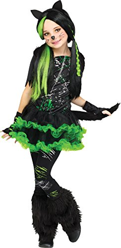 Kool Kat Halloween Costume (UHC Girl's Kool Kat Cat Theme Outfit Child Halloween Fancy Costume, Teen OS)
