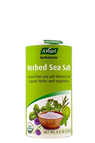 Herb Sea Salt - A. Vogel Herbamare Original Natural Fine Sea Salt with Organic fresh herbs and vegetables, 8.8-Ounce Containers (Pack of 2)