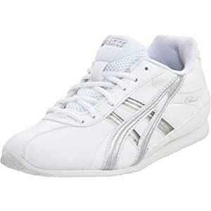 ASICS Cheer 6 GS Cheerleading Shoe (Toddler/Little Kid),White/Silver,3 M US Little Kid