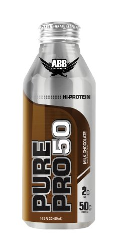 ABB Performance Pure Pro 50 Shake, Milk Chocolate, 14.5-Ounce Bottles (Pack of 12)