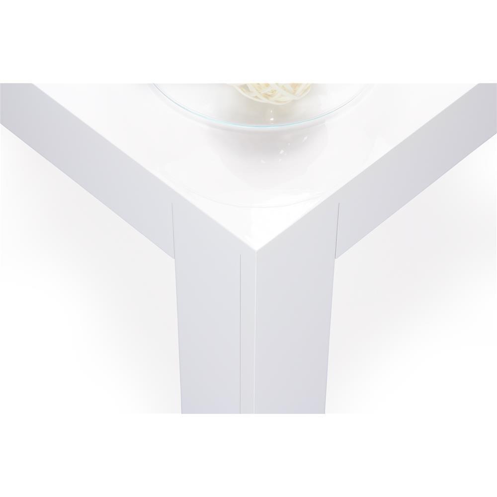 Mobili Fiver Easy 100 x 55 x 40 cm Mesa de Centro Blanco Brillante en MDF
