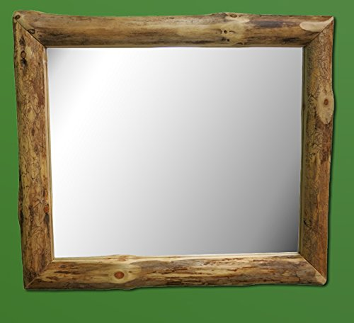 (Midwest Log Furniture - Rustic Log Mirror 35x29)
