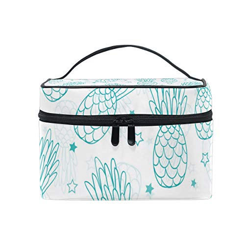 Pineapple Charm Blue Stars Travel Toiletry Bag Cosmetic Organizer for Large Portable Bathroom Accessories Kit