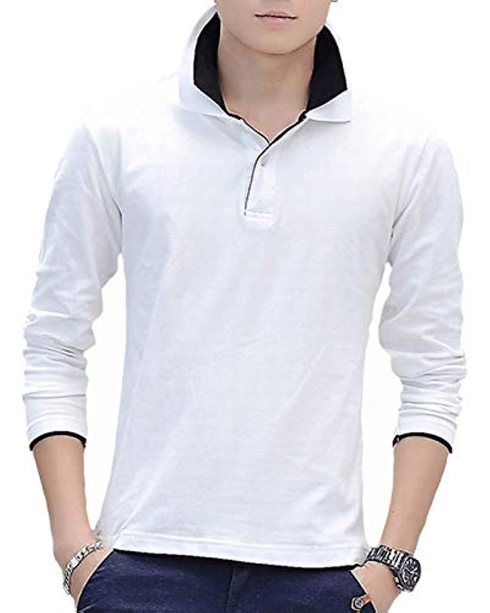 [해외] 폴로 셔츠 맨즈 긴 소매 골프 웨어 흡한 속건 스보―츠 캐주얼 비지니스 UV컷 골프 셔츠