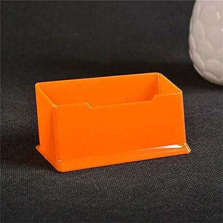 Supertool Contenitore per biglietti da visita arancione 5 pezzi in acrilico per uomini e donne