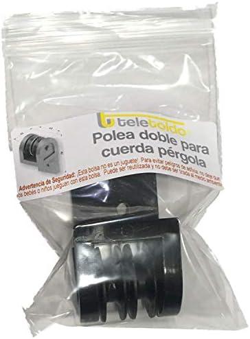 Teletoldo Polea Doble para Cuerda de pérgola (Negro): Amazon.es: Jardín