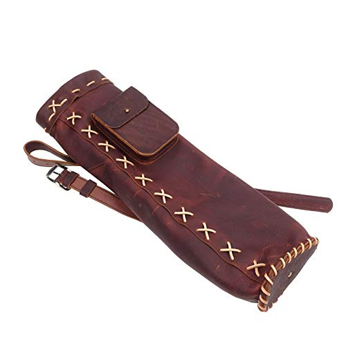 Mandarin Duck Hand Made Real Leather Arrow Quiver Ranger Hunting Shooting, Right Handed, -