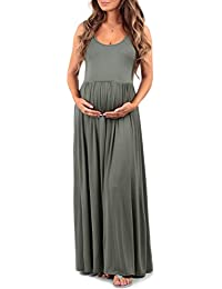 Women's Ruched Sleeveless Maternity Dress by Mother Bee -...