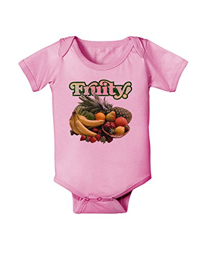TooLoud Fruity Fruit Basket Baby Romper Bodysuit - Candy Pink - 18 Months
