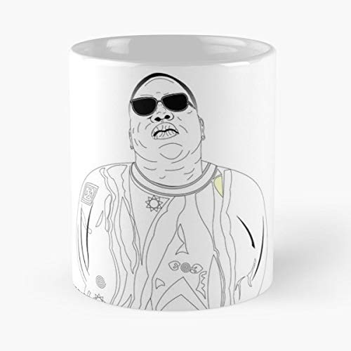 Biggie Rap Rapper Brooklyn Puffy Juicy Bad Boys Notorious Big Christopher Wallace Lil Kim Hiphop - White -coffee Mug- Unique Birthday Gift-the Best Gift For Holidays- 11 Oz.