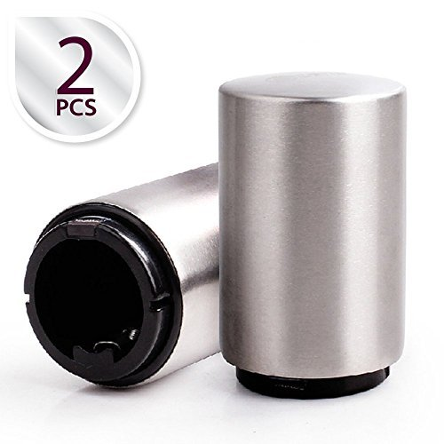Zap Bottle Opener - Most Innovative Bottle Opener with Magnetic Cap Catcher | Premium Nontoxic Stainless Steel | Set of 2 | Silver | - Cart Rx Review