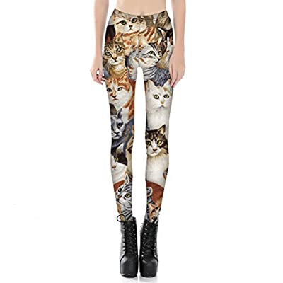 Womens Hot Sale Tigher Printed Yoga High Waist Leggings Pants Plus Size