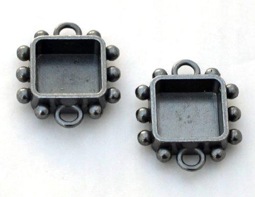 Susan Lenart Kazmer Art Mechanique Square Hobnail, Small, Antique Silver