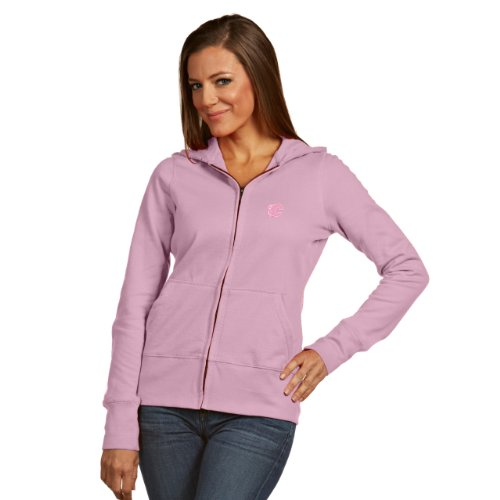 (NHL Calgary Flames Women's Signature Hoodie, Mid Pink, Medium)