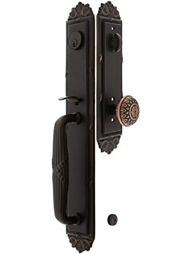 (Imperial Style Tubular Handleset In Oil Rubbed Bronze With Lancaster Knobs And 2 3/8