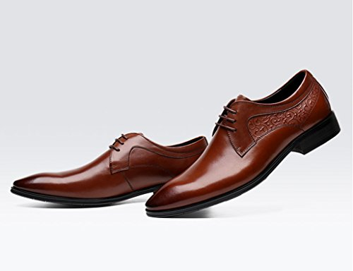 Modello Tado - 42 EU - Cuero Italiano Hecho A Mano Hombre Piel Naranja Zapatos Vestir Oxfords - Cuero Cuero Pintado a Mano - Encaje sjjok