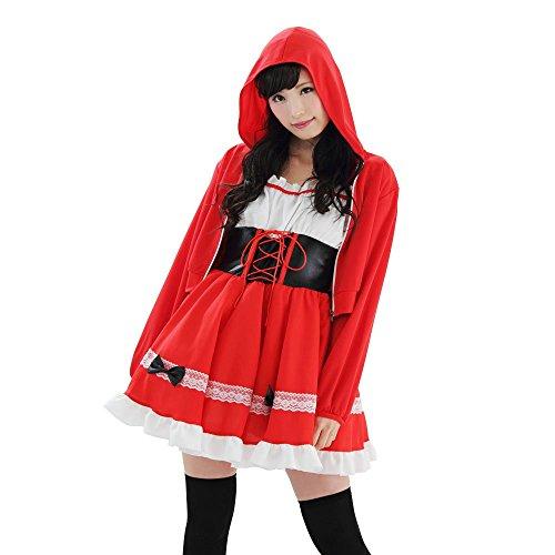 A&T Collection Women's Little Riding Hood Hoody One-Size Red (Little Red Riding Hood Cosplay)