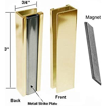 Bright Gold Shower Door U Channel With Metal Strike And