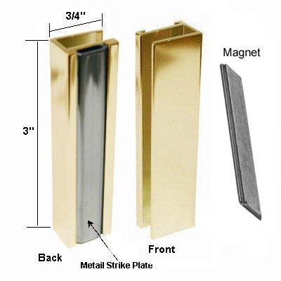 bright gold shower door u