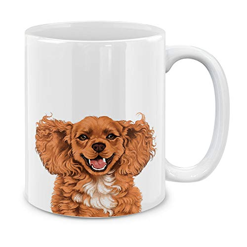 MUGBREW Cute Cocker Spaniel Full Portrait Ceramic Coffee Gift Mug Tea Cup, 11 OZ