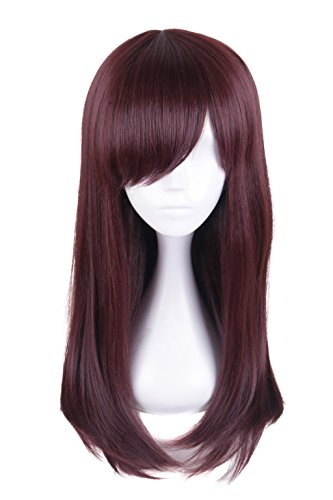 HH Building Women Fashion Long Curly Hair Costume Cosplay Wig (Dark Brown) - Long Curly Character Wigs