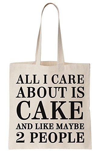 Bag I 2 People About Maybe And Cake Is Care All Tote Like Canvas 7wagp