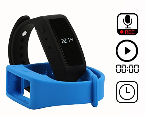 Digital Voice Recorder Watch Wrist Band Digital Audio Voice Recorder Noise Reductiion with Voice Activated Recording Voice 20 Hours Recording 8GB -