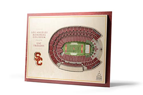 - NCAA USC Trojans 5-Layer Stadiumviews 3D Wall Art