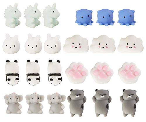 Juvale 24-Pack Mochi Squishies - Squishy Kawaii Squeeze Toys - Cute Party Favors, Easter Egg Fillers, Stress Relief Gifts, 8 Designs]()